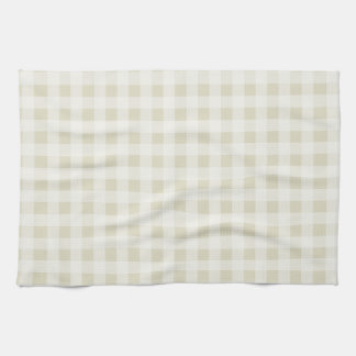 Ecru Gingham; Checkered Tea Towel