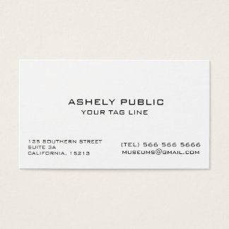 Ecru White Minimalist Business Card