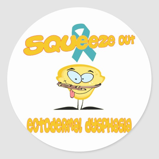 Ectodermal Dysphasia Classic Round Sticker