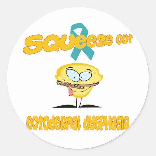 Ectodermal Dysphasia Round Sticker