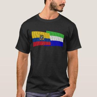 Ecuador and Galápagos waving flags T-Shirt