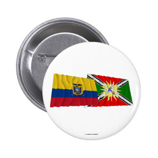Ecuador and Santo Domingo waving flags 6 Cm Round Badge