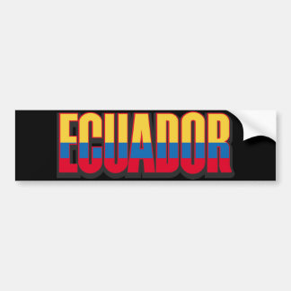 Ecuador Big Bumper Sticker