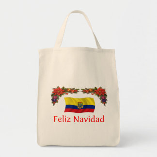 Ecuador Christmas Canvas Bag