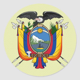 Ecuador Coat of Arms detail Classic Round Sticker