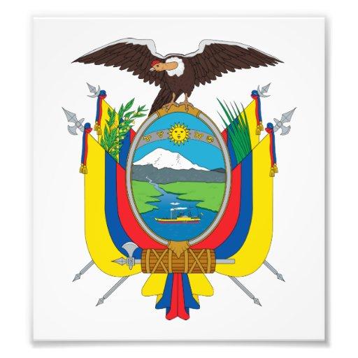 Ecuador Coat Of Arms Photograph