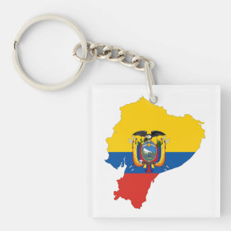 ecuador country flag map shape silhouette symbol key ring