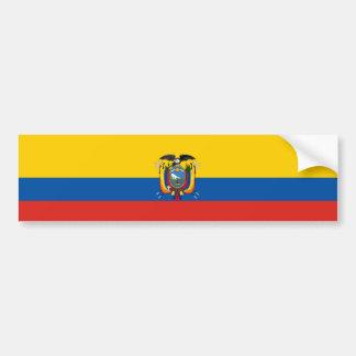 Ecuador country flag symbol long bumper sticker