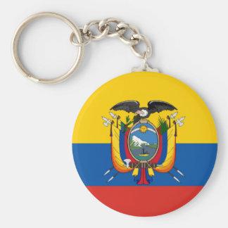 Ecuador country flag symbol long key ring