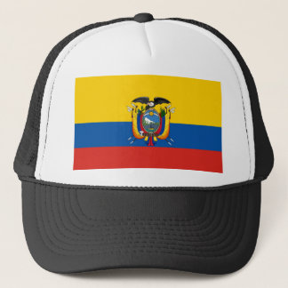 Ecuador country flag symbol long trucker hat
