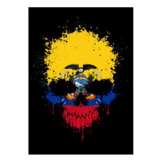Ecuador Dripping Splatter Skull Pack Of Chubby Business Cards