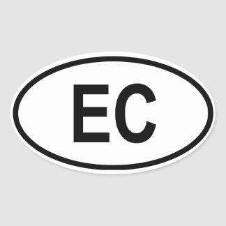 Ecuador EC Oval Sticker