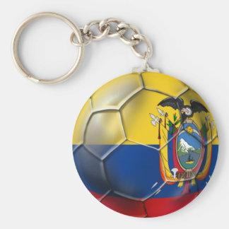 Ecuador Elt Tri world cup soccer futbol ball gifts Basic Round Button Key Ring