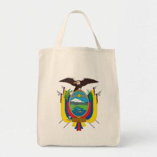 ecuador emblem grocery tote bag