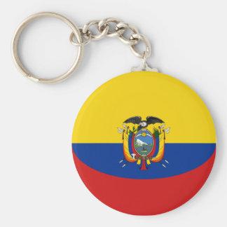 Ecuador Fisheye Flag Keychain