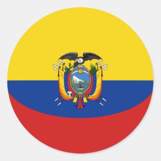 Ecuador Fisheye Flag Sticker