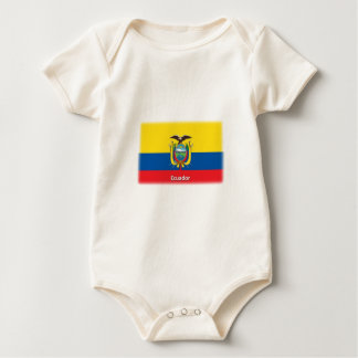 Ecuador Flag Baby Bodysuit