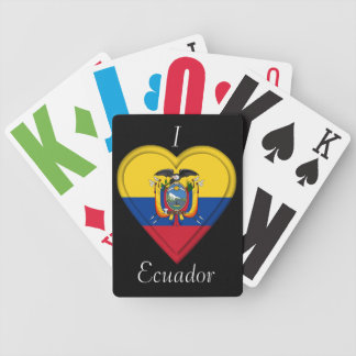 Ecuador flag bicycle playing cards