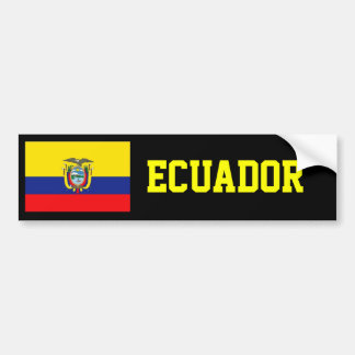 Ecuador flag bumper sticker