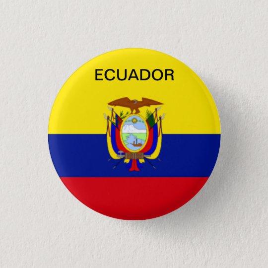 Ecuador flag button. 3 cm round badge