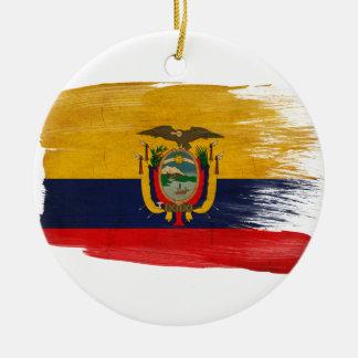 Ecuador Flag Christmas Ornament