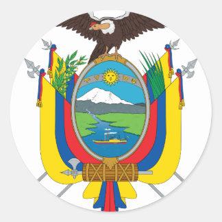 Ecuador Flag EC Classic Round Sticker