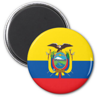 Ecuador Flag EC 6 Cm Round Magnet
