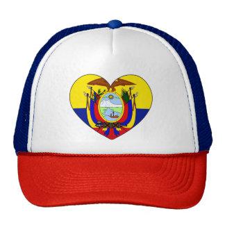 Ecuador Flag Heart Cap