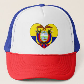 Ecuador Flag Heart Trucker Hat