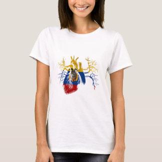 Ecuador Flag in Real heart T-Shirt
