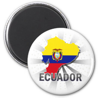 Ecuador Flag Map 2.0 Magnet