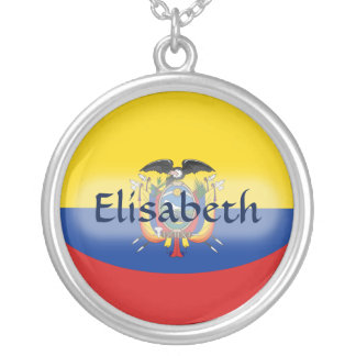 Ecuador Flag + Name Necklace