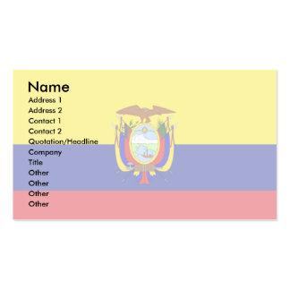 Ecuador Flag Pack Of Standard Business Cards
