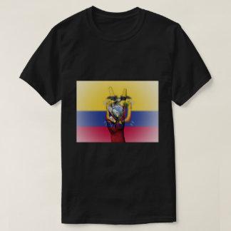 Ecuador Flag Peace Sign - Patriotic T-Shirt