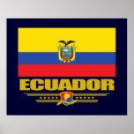 Ecuador Flag Poster
