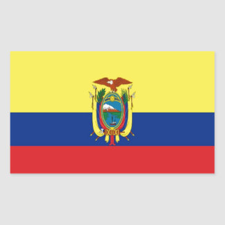 Ecuador Flag Rectangular Sticker