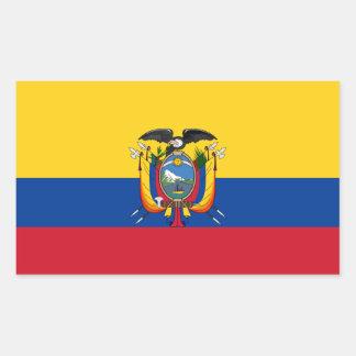 Ecuador Flag Rectangular Sticker