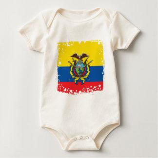 Ecuador Flag, Republic of Ecuador Colors Baby Bodysuit