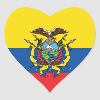Ecuador Flag, Republic of Ecuador Love Sticker