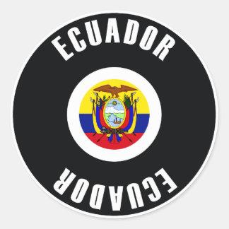 Ecuador Flag Simple Classic Round Sticker