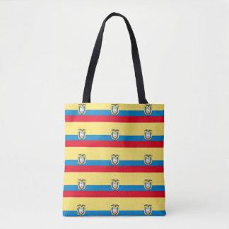 Ecuador Flag Tote Bag