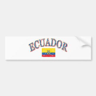 Ecuador football design bumper sticker