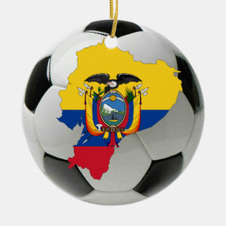 Ecuador football soccer ornament