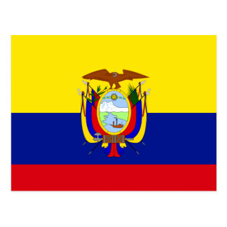 Ecuador High quality Flag Postcard