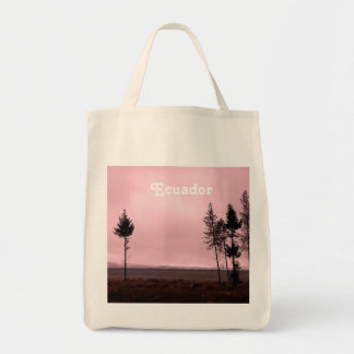 Ecuador Landscape Grocery Tote Bag
