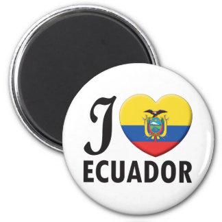 Ecuador Love 6 Cm Round Magnet