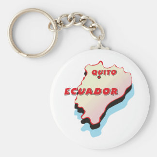Ecuador Map Key Ring