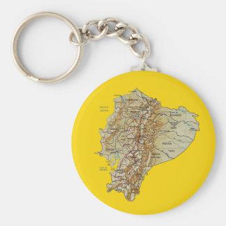 Ecuador Map Keychain