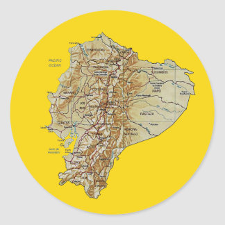 Ecuador Map Sticker