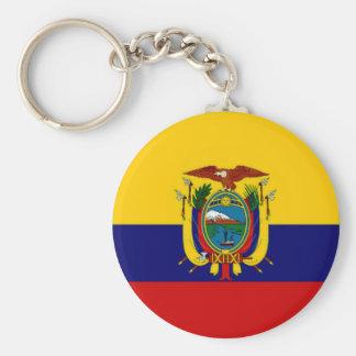 Ecuador President Flag Basic Round Button Key Ring